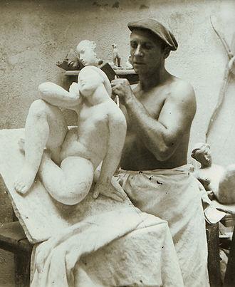 Victor Nicolas - Victor Nicolas in his studio of Montmeyan in 1950.