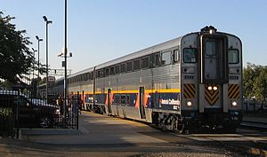 San Joaquin (train) - San Joaquin train at Fresno Station
