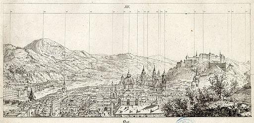 Friedrich Loos Wegweiser auf dem Mönchberge 1830 ubs G 0678 III 02