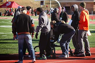 Webster Groves High School - Students ring the Frisco Bell at the 2013 Turkey Day game.