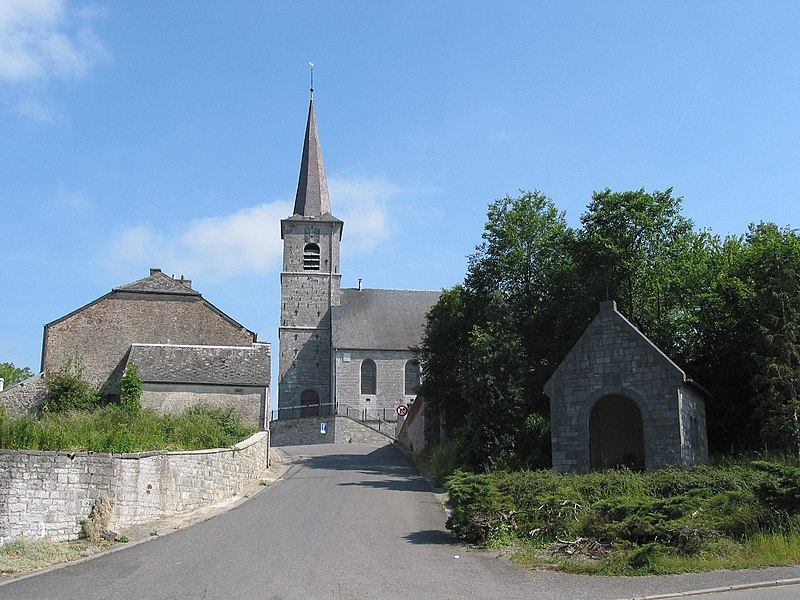 Froidchapelle (Belgium), the St. Aldegonde church (XVI-XVIIIth centuries).