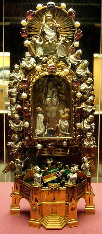 Holy Thorn Reliquary - Image: Front View of Thorn Reliquary