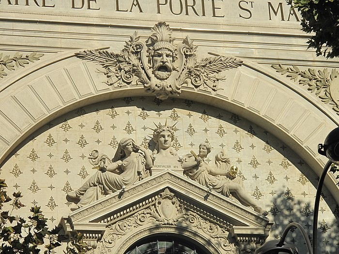 Th tre de la porte saint martin monument historique - Theatre de la porte saint martin plan ...