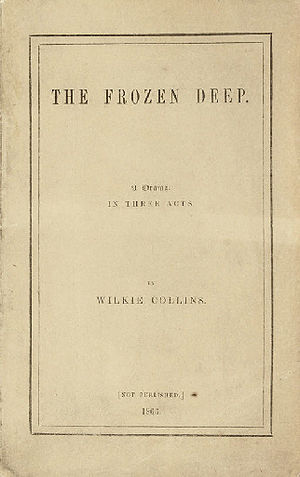 The Frozen Deep - Cover of private printed first edition, 1866