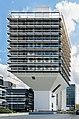 Funnel-shaped building in Frankfurt Niederrad Germany 2014 - 03.jpg