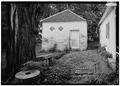 GENERAL VIEW OF SMOKEHOUSE - Spring Bank Farm, 7506 Old Shepherdsville Road, Louisville, Jefferson County, KY HABS KY,56-LOUVI,7-6.tif