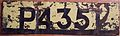 GRENADA POST 1974 PASSENGER PLATE-PAINTED ON BACK OF PORCELAIN 1974 PLATE same number - Flickr - woody1778a.jpg