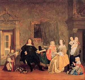 Jan Jacobszoon Hinlopen - The family Hinlopen by G. Metsu (1663)