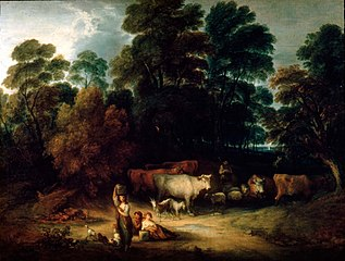 Landscape with Milkmaids and Cattle