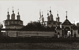 Galich, Russia - The churches of Paisiev Monastery date from the 16th and 17th centuries