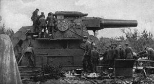 Långskjutande artilleri.
