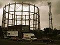 Gasometer and Phone Mast - geograph.org.uk - 919074.jpg