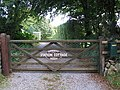 Gate with plaque commemorating the end of the West Somerset mineral line (geograph 2076068).jpg