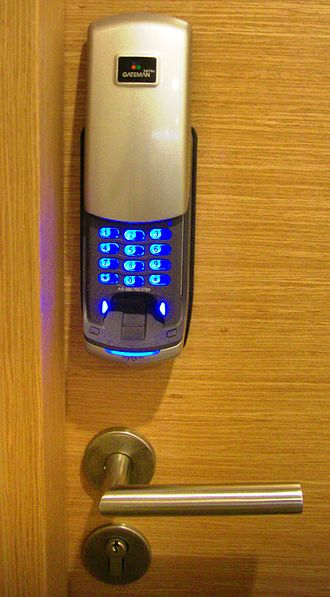 Electronic lock - A biometric electronic lock with PIN entry