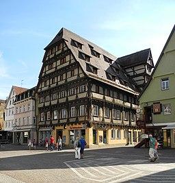 Geislingen an der Steige - Alter Zoll, Fachwerkbau 1495