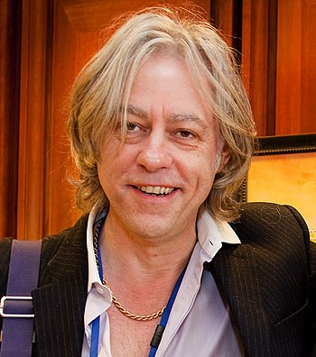 Bob Geldof at the Headquarters of the Internat...