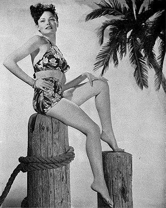 Gene Tierney - Pin-up photo in World War II magazine Brief