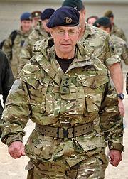 General Sir David Richards during a trip to Lashkar Gah in Afghanistan
