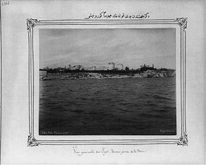 Yedikule - Image: General view of Yedikule (Seven Towers) from the sea side between 1880 and 1893