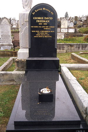 Waverley Cemetery - Grave of George Freeman