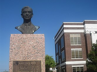 George H. Mahon - Statue of Mahon on grounds of Mitchell County Courthouse in Colorado City, Texas.