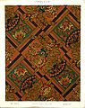 George Harrison and Co (Bradford) -Linoleum, 2 yards wide. (Victorian chinoiserie fan, peony and leaf pattern). No. 150-1. Pattern shown half size. (1880s?) (21561818796).jpg
