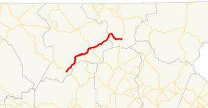 Georgia State Route 180 - Image: Georgia state route 180 map