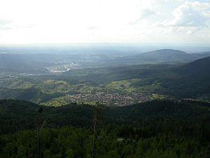 Loffenau - View Teufelsmühle above Loffenau into the Murgtal