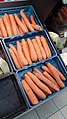 Giant carrots for sale at the Amazing Oriental (東方行), Groningen (2019).jpg