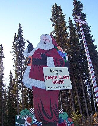 North Pole, Alaska - The Santa Claus House is a local landmark.