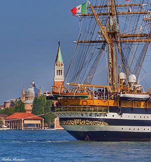 "Italian training ship Amerigo Vespucci - Poppa Amerigo Vespucci ""San Giorgio"" Venezia"