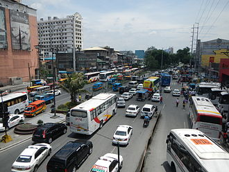 Gil Puyat Avenue - View of Gil Puyat Avenue from Gil Puyat LRT Station/Taft Avenue, westward towards Leveriza Street.
