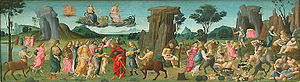 The Feast of the Gods - Image: Giovanni Noces de Thétis et Pelée, Louvre RF 1346