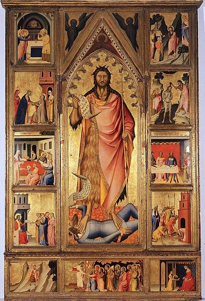 File:Giovanni del Biondo, altare di san giovanni battista.jpg