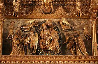 Giovanni Martini da Udine - Dormitio Virginis - detail from the Mortegliano altarpiece
