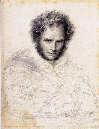 Anne-Louis Girodet de Roussy-Trioson - Self-portrait from 1824, Musée des Beaux-Arts d'Orléans