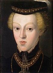Erzherzogin Johanna (1547-1578), Großherzogin von Toskana im Alter von etwa 9 - 10 Jahren, Brustbild