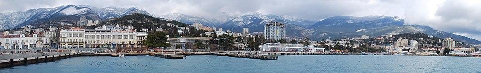 A panoramic view of Yalta