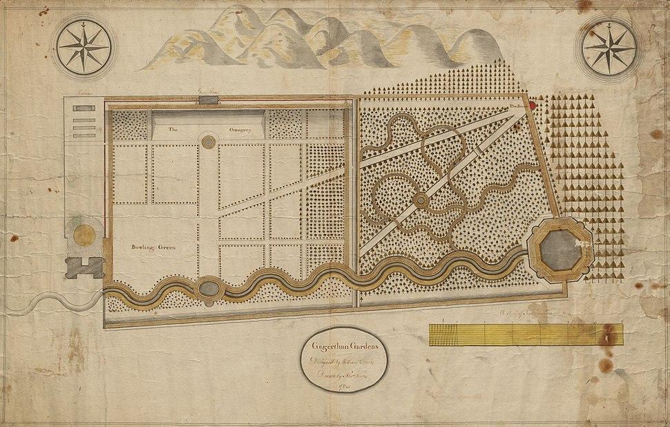 Gogerddan map 115 Gogerddan Gardens 1765