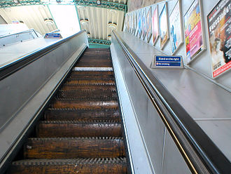 King's Cross fire - The now-decommissioned wooden escalators at Greenford (seen in 2006), similar to those that caught fire at King's Cross