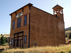 National Register of Historic Places listings in Teller County, Colorado - Image: Goldfield City Hall and Fire Station 02