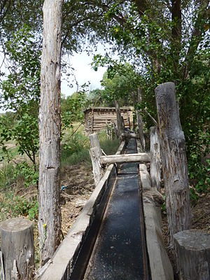 National Register of Historic Places listings in Santa Fe County, New Mexico - Image: Golondrinas Acequia Flume