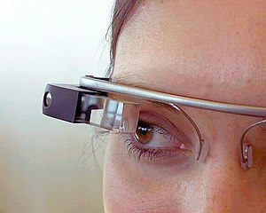 Google Glass - A Glass prototype seen at Google I/O in June 2012