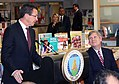 Governor Dannel Malloy speaks during Secretary Vilsack's visit to the Henry A. Wolcott Elementary School in West Hartford, Connecticut.jpg