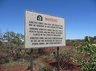 Wittenoom, Western Australia - Image: Govt Warning Wittenoom WA