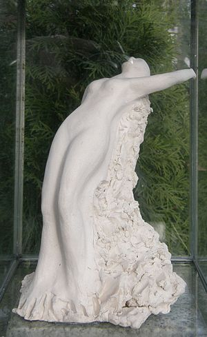 Deutsch: Skulptur auf dem Grabstein von Anneli...