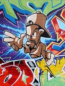 Boy - Character in einem Graffiti-Bild des Mainzer Writers Can2