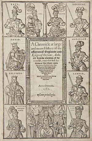 Richard Grafton - Title page of Grafton's Chronicle at Large (1568–9)