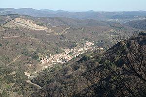 Graissessac - Graissessac seen from the Col du Layrac