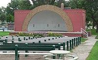 Grant, Nebraska city park bandshell 2.JPG